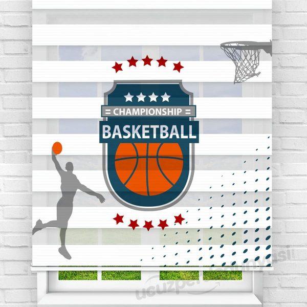 Basketbol Baskılı Çocuk Stor Zebra Perde