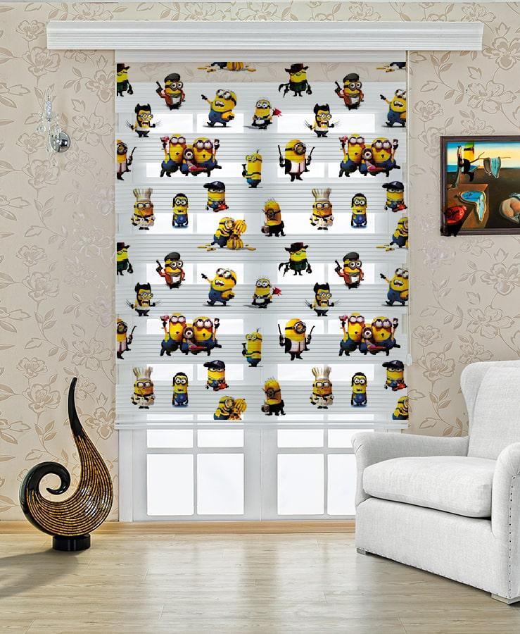 Çocuk Odası Zebra Perde Minyonlar