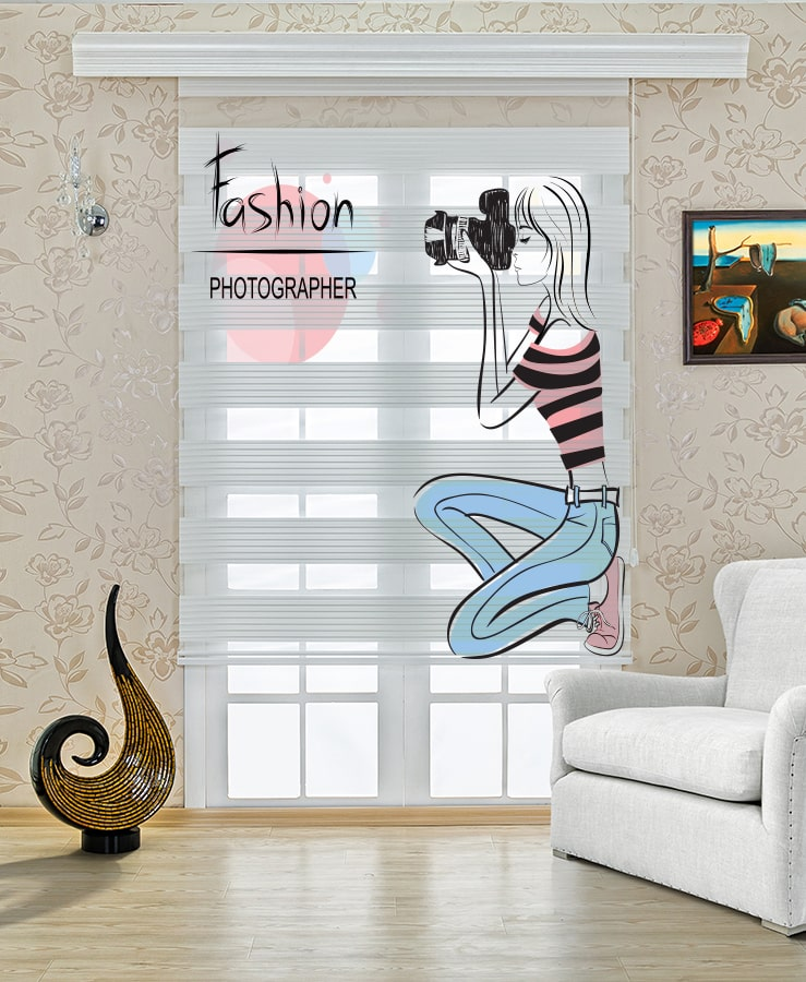 Çocuk Odası Moda Fotoğrafçısı Baskılı Stor Zebra Perde