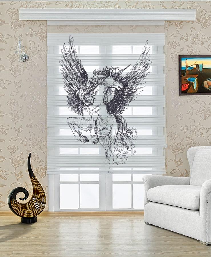 Pegasus Baskılı Stor Zebra Perde