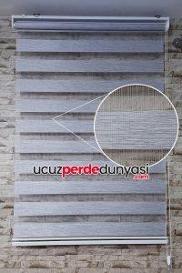 Gri Kırçıllı Bambu Zebra Perde