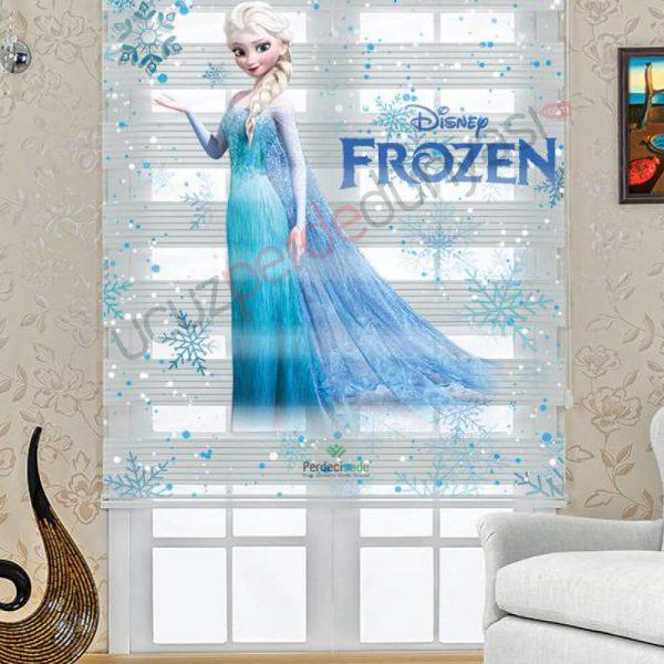 çocuk odası frozen zebra perde