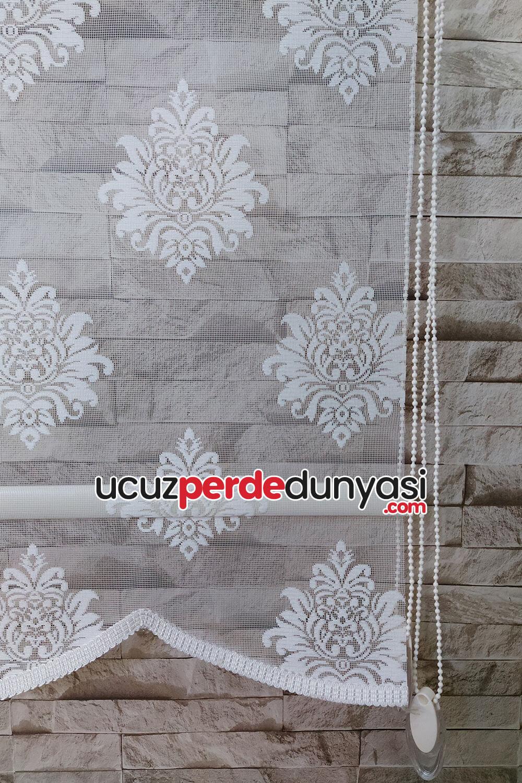 Oval Damask Çiftli Mekanizmalı Sistemli Stor Perde