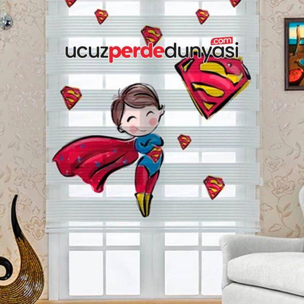 Süper Çocuk Baskılı Çocuk Odası Zebra Perde