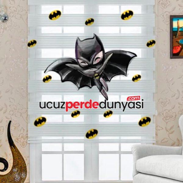 Yarasa Çocuk Baskılı Çocuk Odası Zebra Perde
