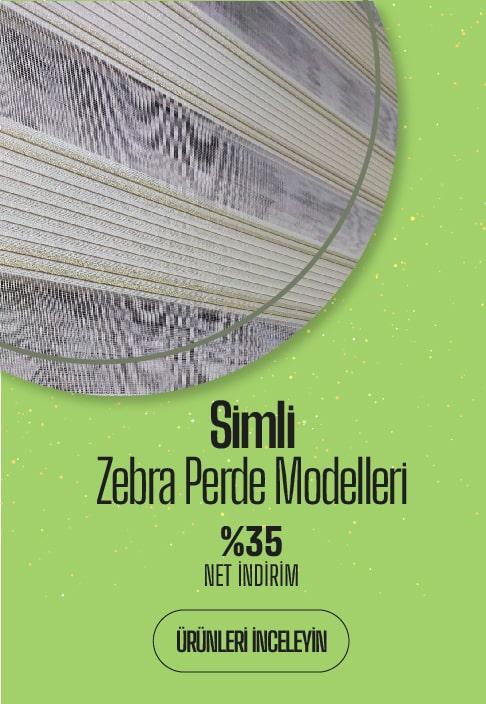 Simli Zebra Perde Modelleri ve Fiyatları