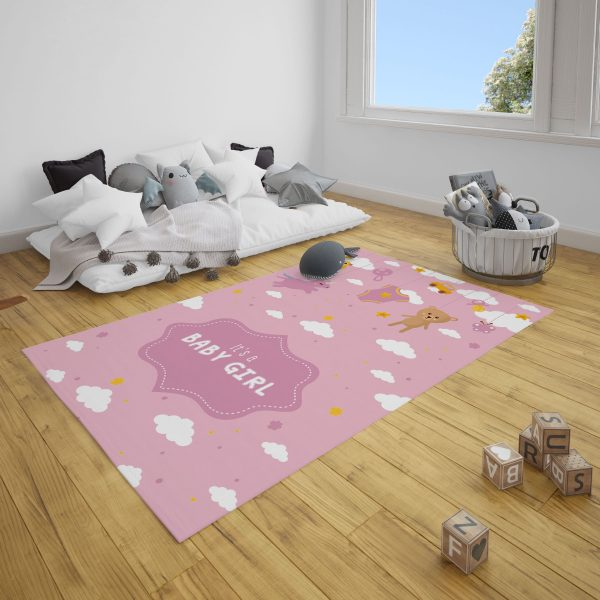 Baby Girl Bebek Odası Halı