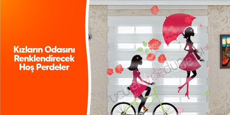 Kızların Odasını Renklendirecek Hoş Perdeler