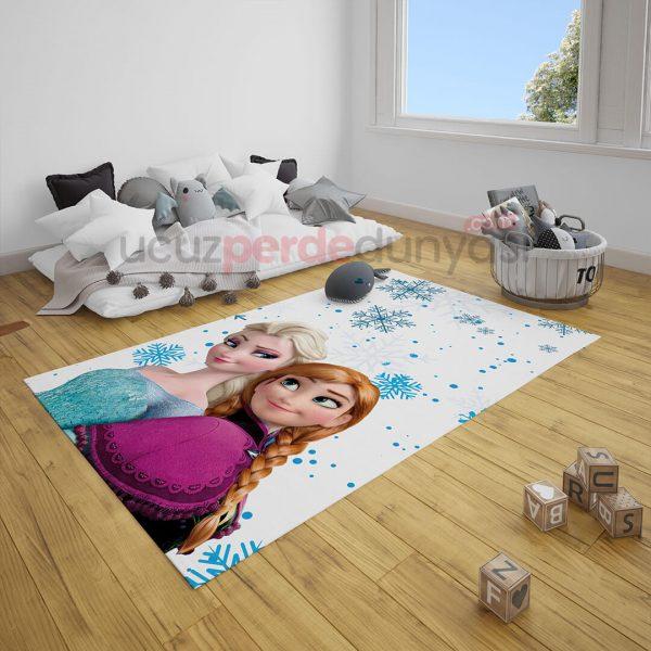 Anna ve Elsa Frozen Çocuk Odası Halı