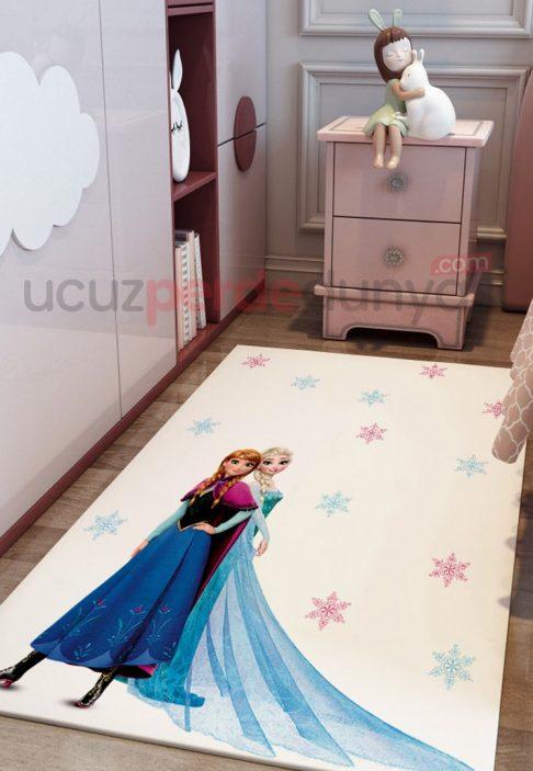 Anna ve Elsa Frozen Bebek Odası ve Çocuk Odası Halı