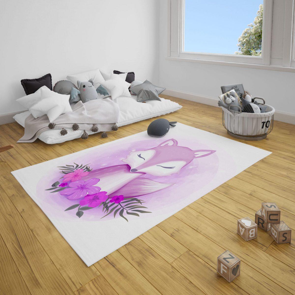 Asil Tilki Bebek Odası ve Çocuk Odası Halı
