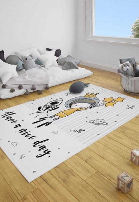 Astronot Çocuk Bebek Odası ve Çocuk Odası Halı