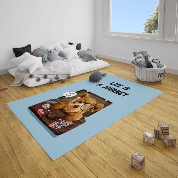 Bavuldaki Ayı Ted Bebek Odası ve Çocuk Odası Halı