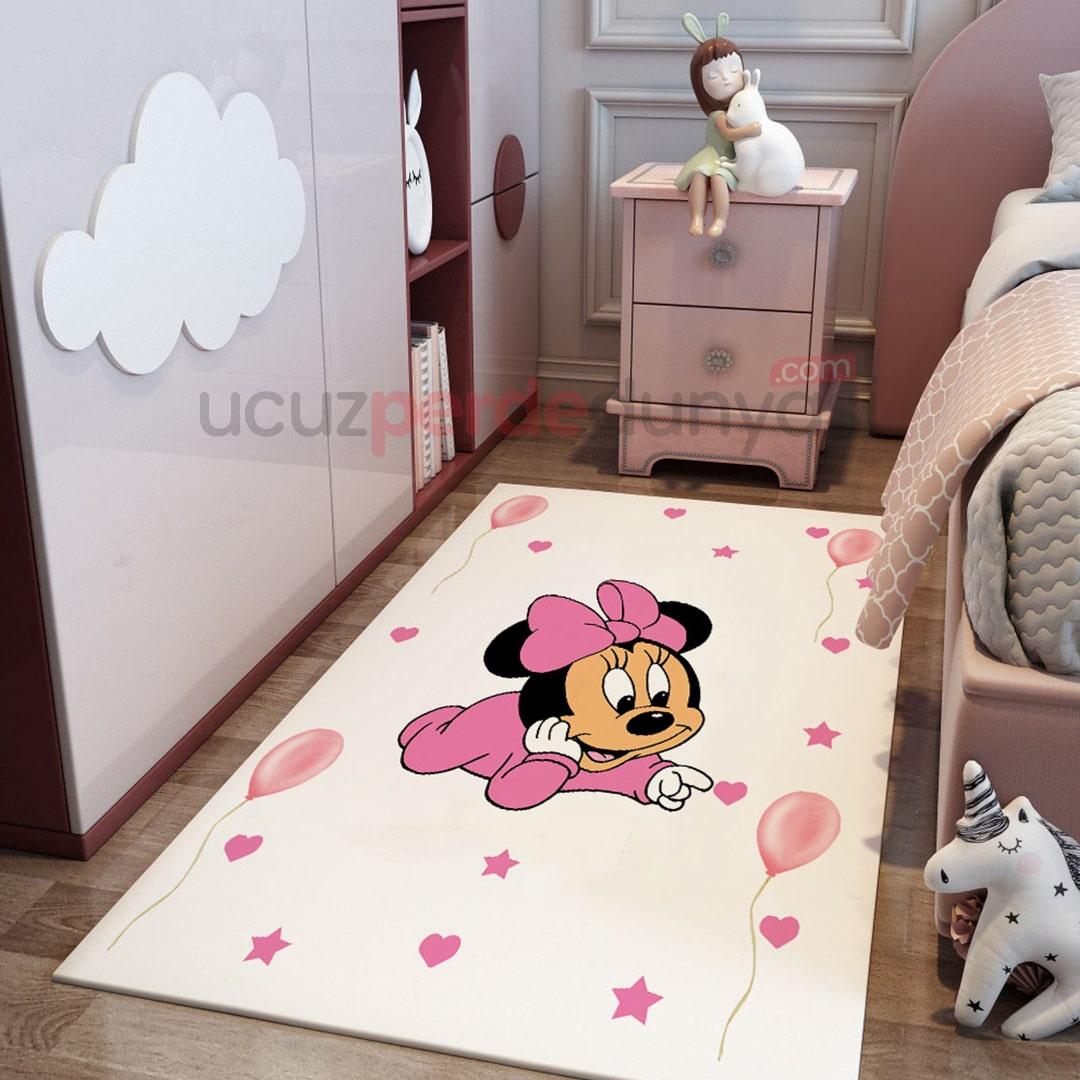 Minnie Mouse Bebek Odası Halı