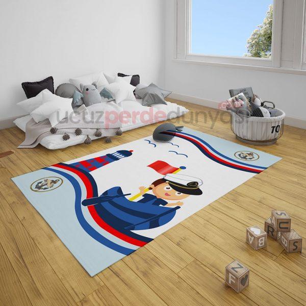 Minik Denizci Çocuk Odası Halı