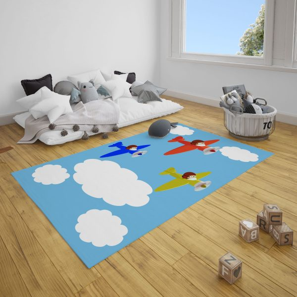 Çocuk Pilotlar Bebek Odası ve Çocuk Odası Halı