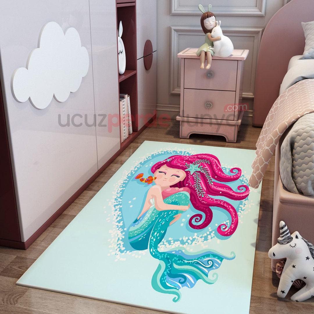 Deniz Kızı Çocuk Odası Halı
