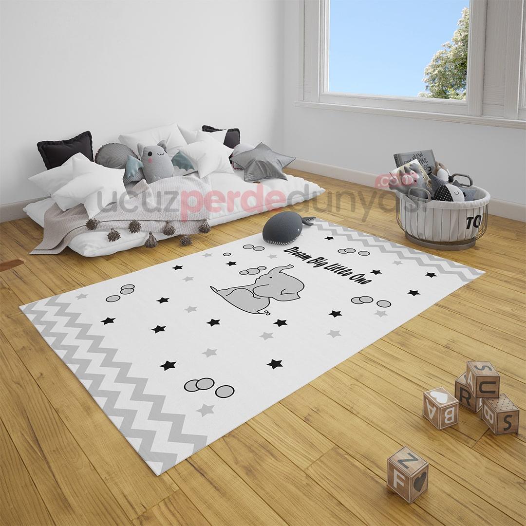 Desenli Hayal Dünyası Bebek Odası Halı