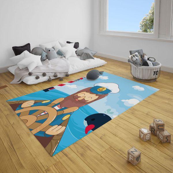 Dümendeki Denizci Bebek Odası ve Çocuk Odası Halı