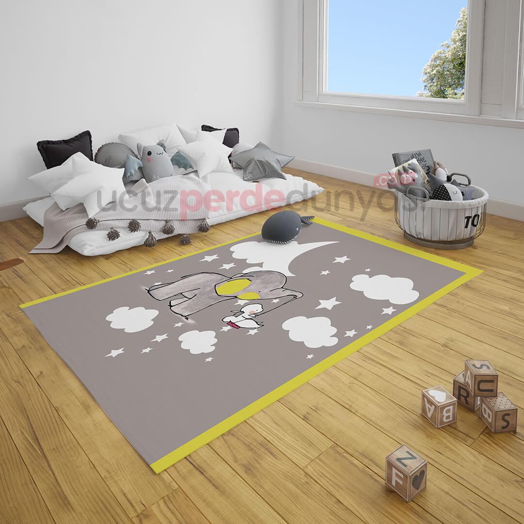 Düşler Dünyası Fil Bebek Odası Halı