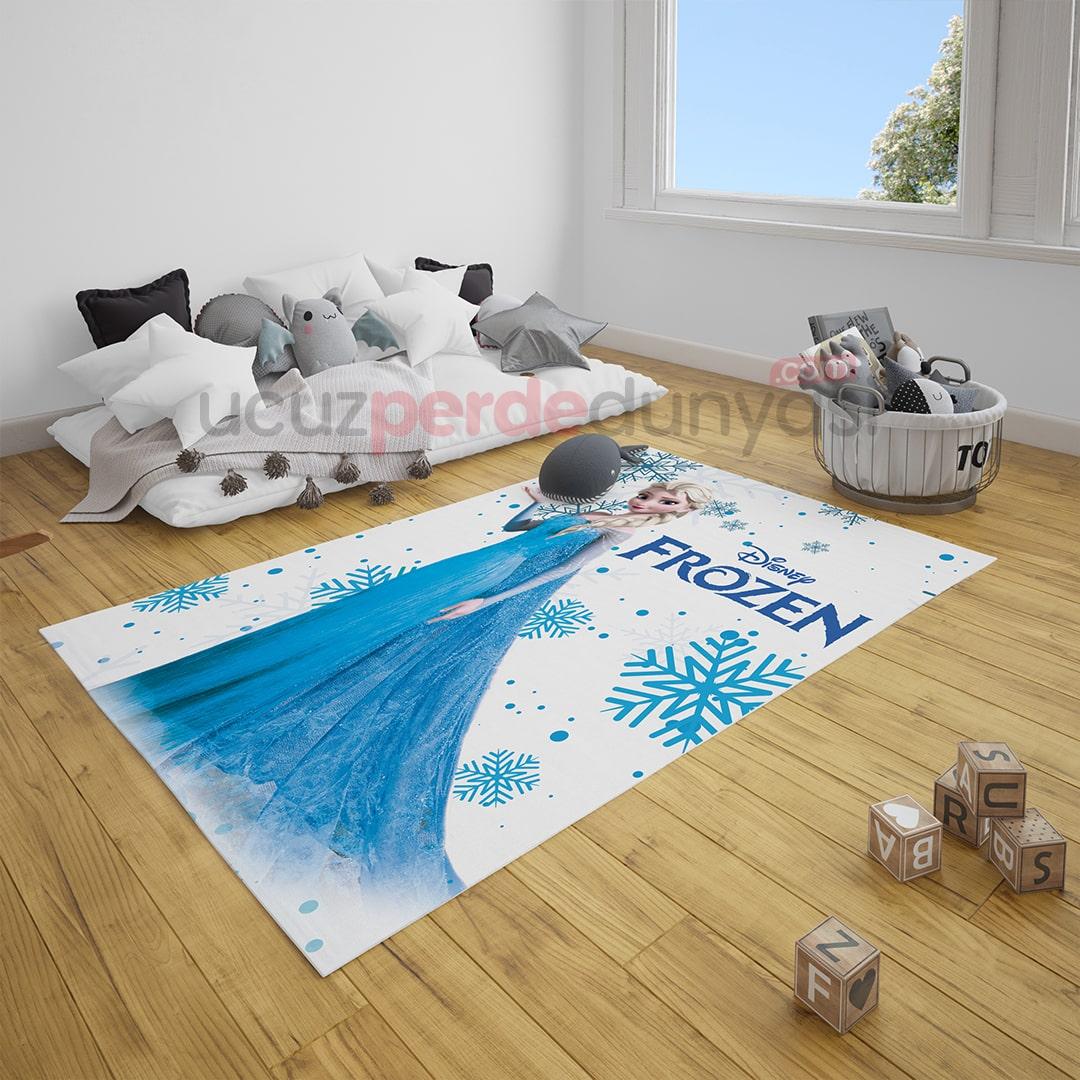 Elsa Frozen Çocuk Odası Halı