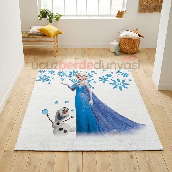 Elsa Frozen ve Olaf Çocuk Odası Halı