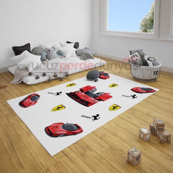 Ferrari Arabalar Çocuk Odası Halı