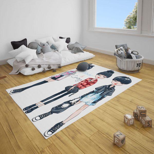 Gotik Kızlar Genç Odası ve Çocuk Odası Zebra Perde