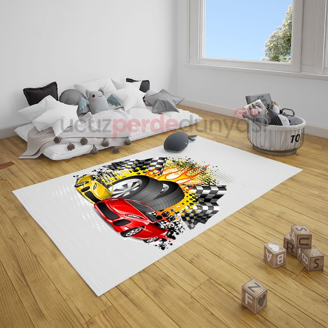 Hotwheels Çocuk Odası Halı