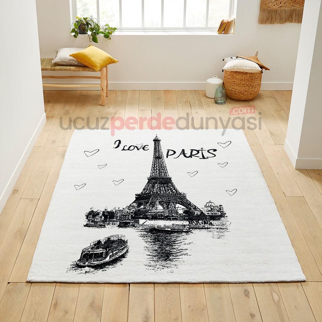 Seni Seviyorum Paris Genç Odası Halı
