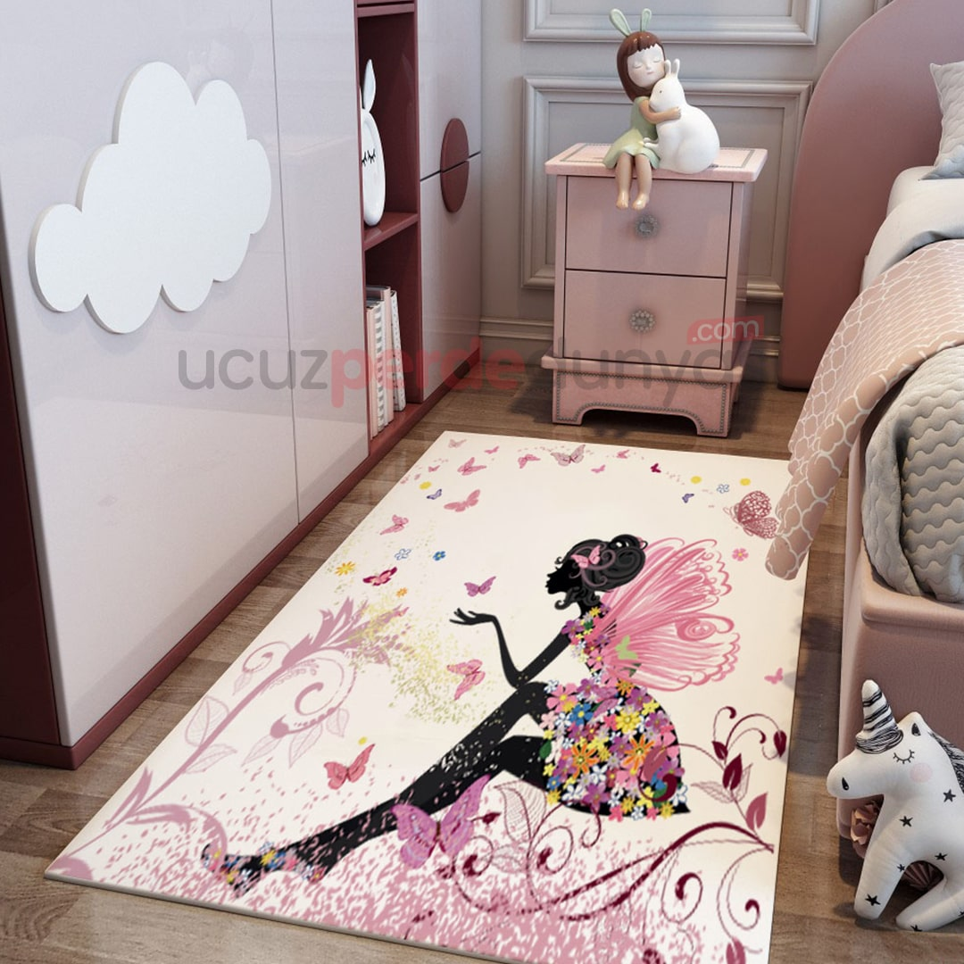 Kanatlı Peri Çocuk Odası Halı