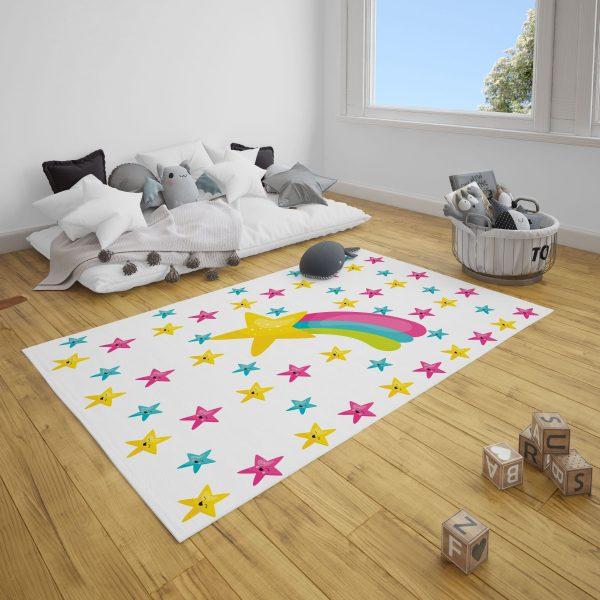 Kayan Yıldız Bebek Odası Çocuk Odası Halı