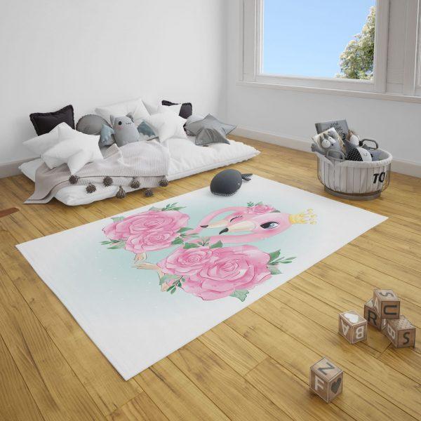 Aile Flamingolar Genç Odası ve Çocuk Odası Halı