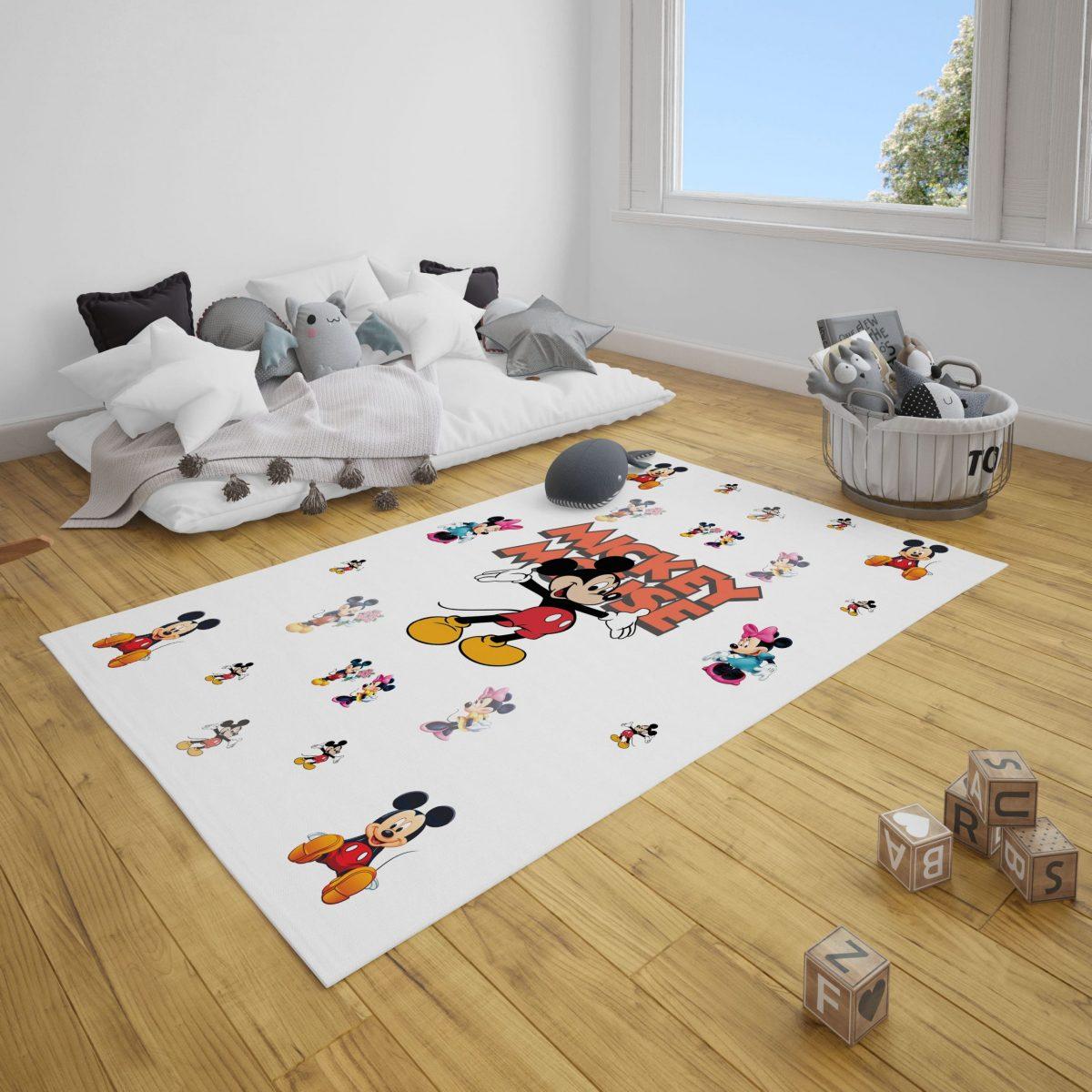 Mickey Mouse Bebek Odası ve Çocuk Odası Halı
