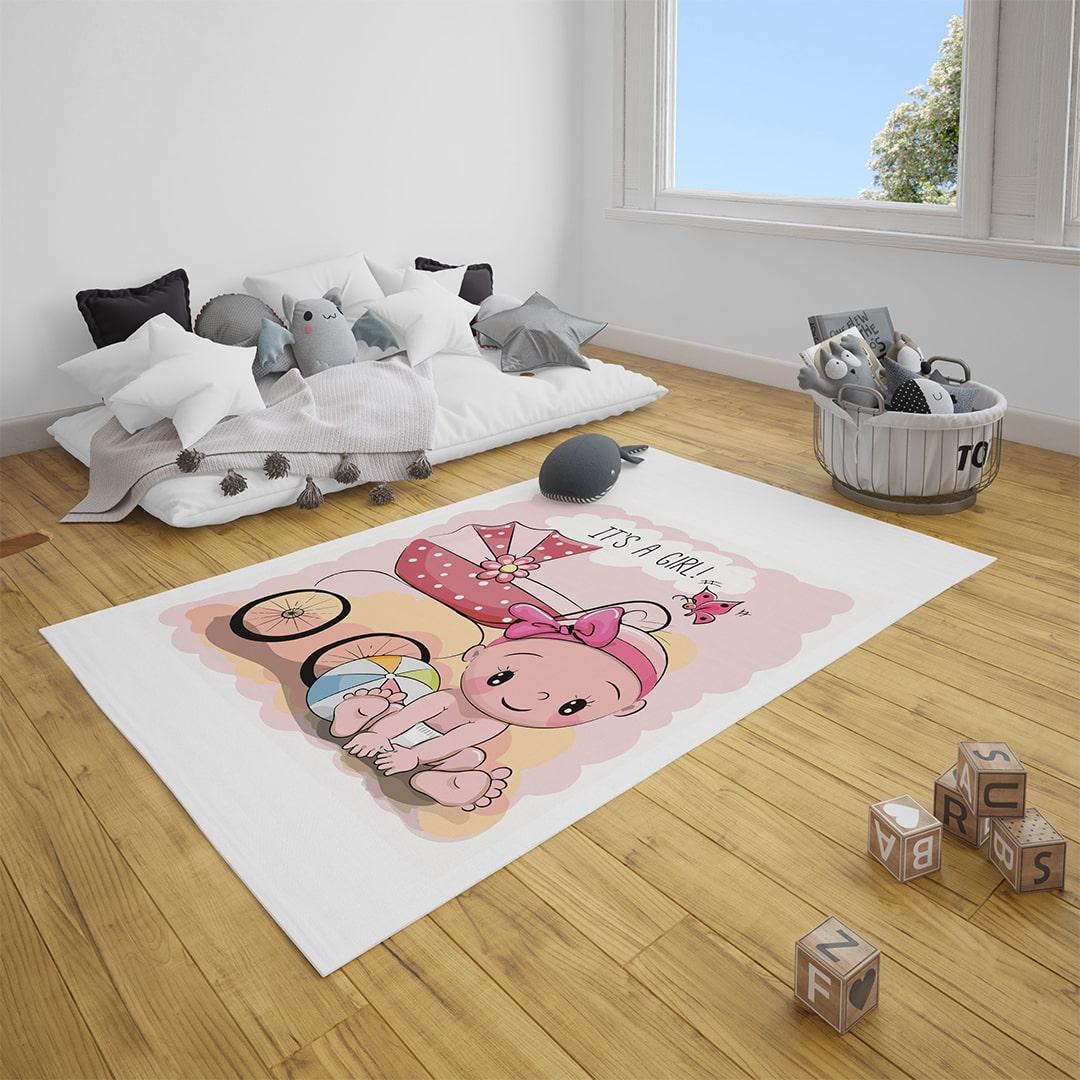 Minik Bebek Çocuk Odası Halı