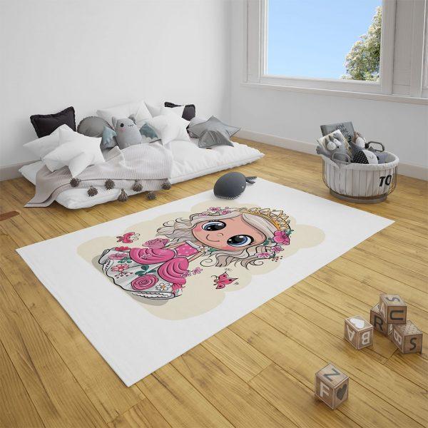Minik Prenses Bebek Odası Halı