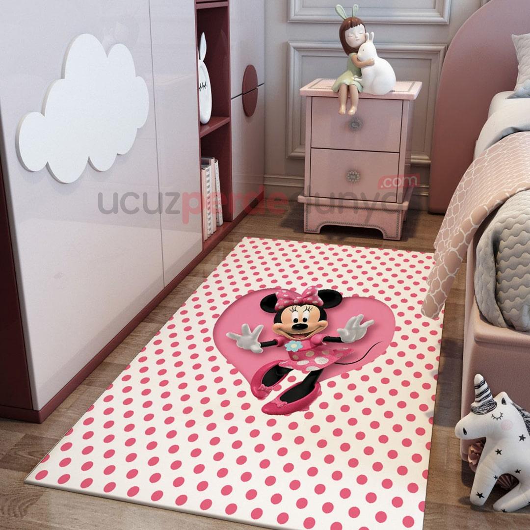 Minnie Mouse Çocuk Odası Halı