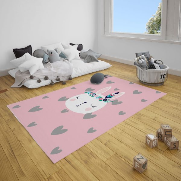 Mohikan Tavşan Bebek Odası ve Çocuk Odası Halı