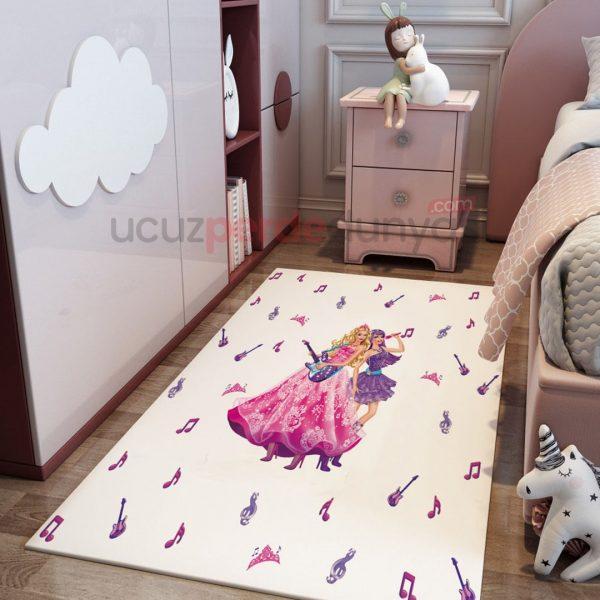 Müzik Barbie Çocuk Odası Halı