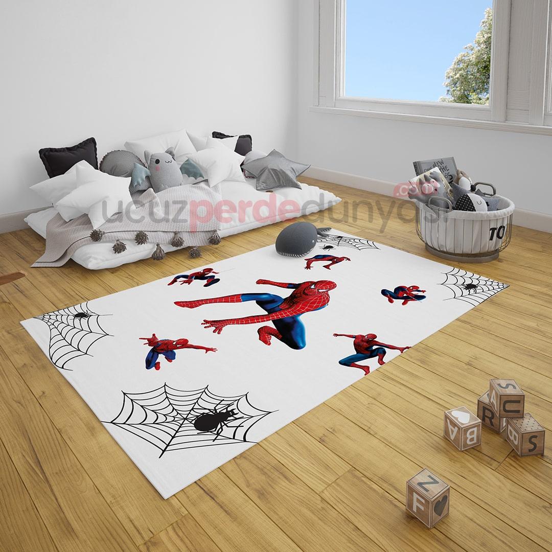Örümcek Adam Çocuk Odası Halı