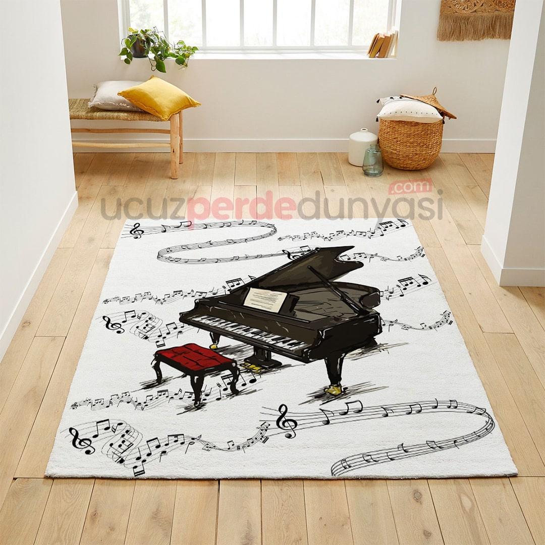 Piyano Müzikal Genç Odası Halı