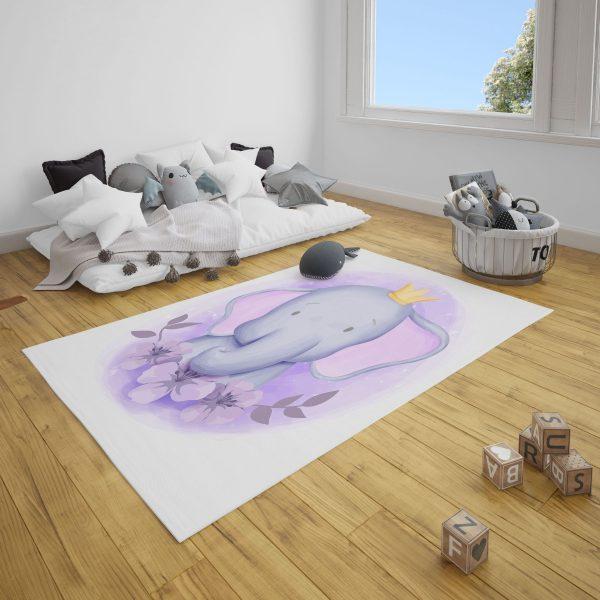 Prens Fil Bebek Odası ve Çocuk Odası Halı