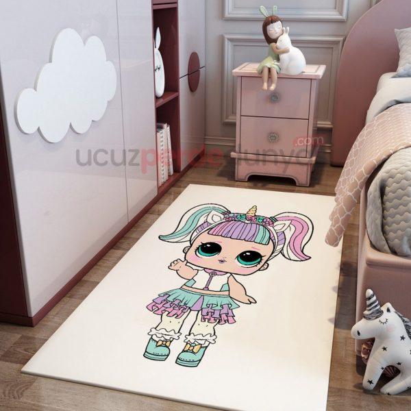 Prenses Unicorn Bebek Odası Halı