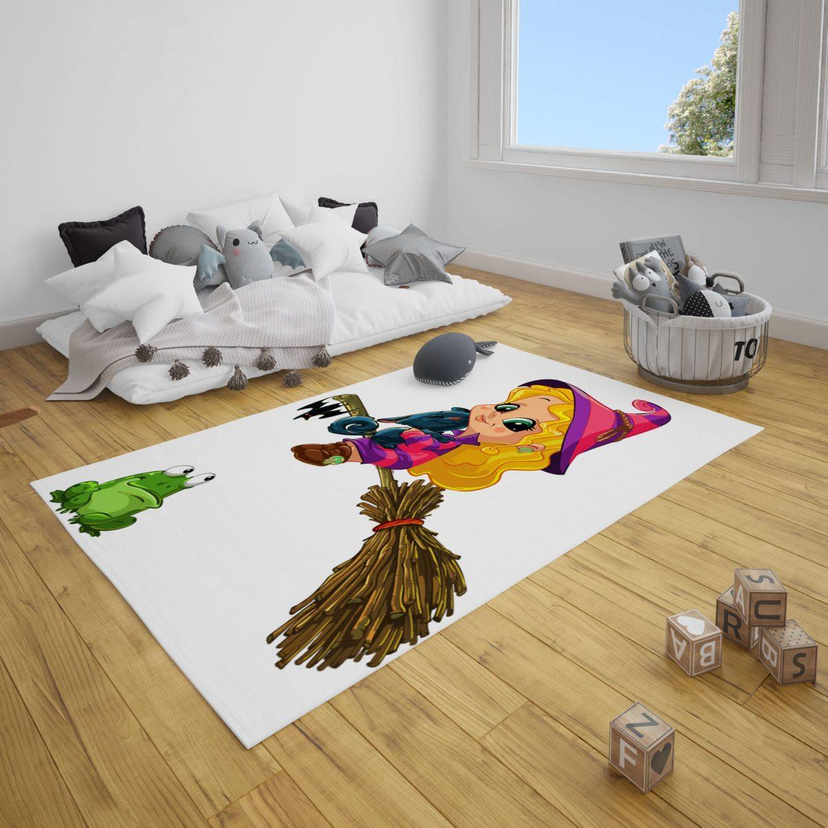 Sarı Tatlı Cadı Bebek Odası ve Çocuk Odası Halı