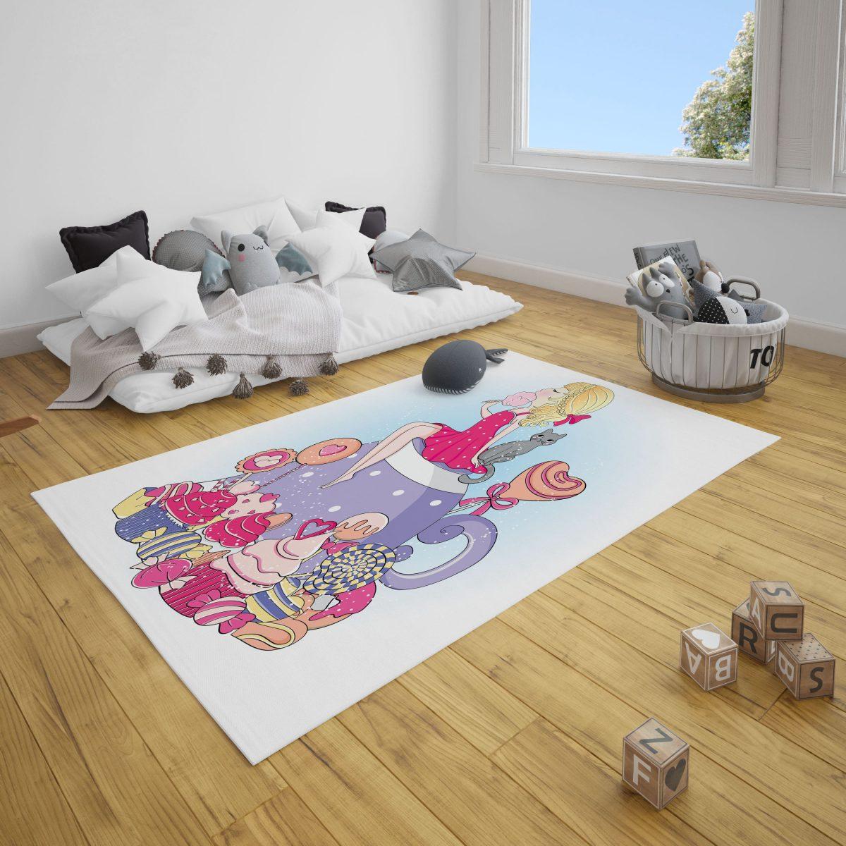 Şeker Diyarı Çocuk Odası Halı