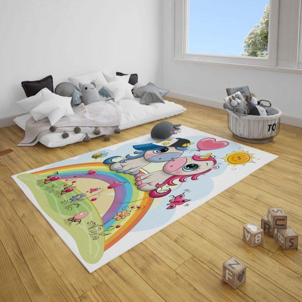 Sevimli Dinazor Bebek Odası ve Çocuk Odası Halı