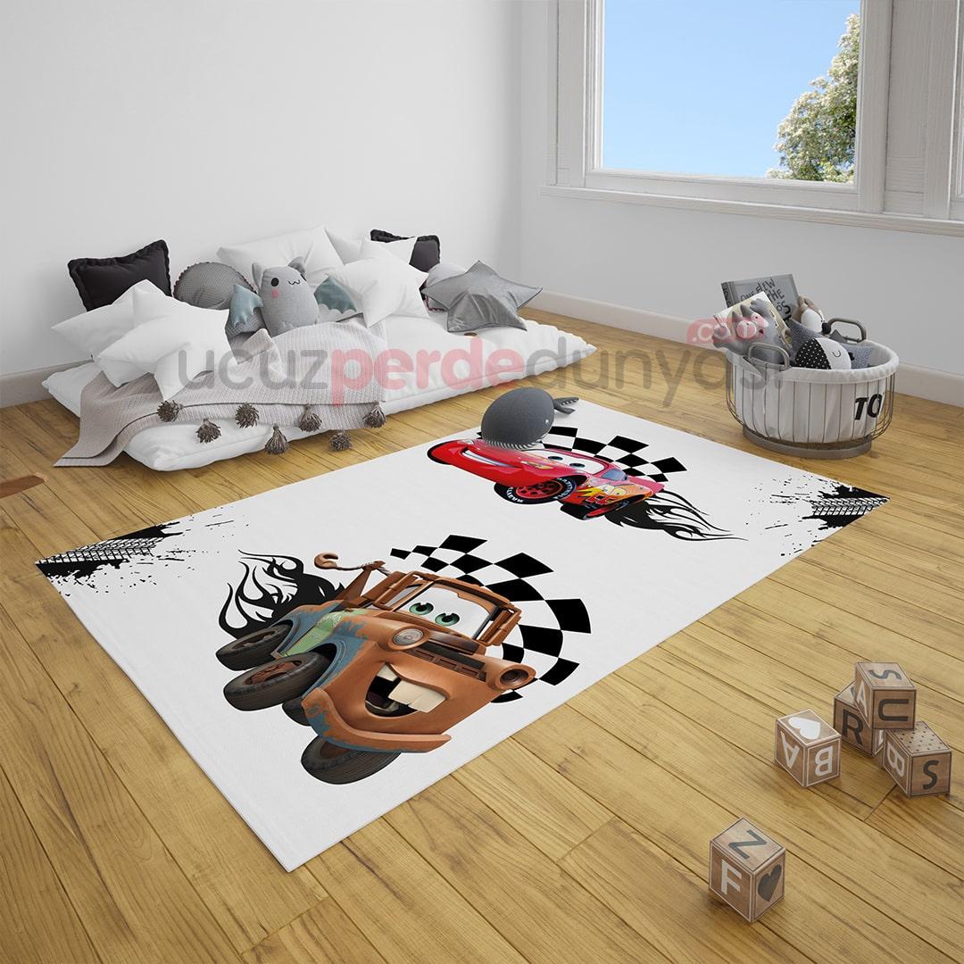 Şimşek Mcqueen Arabalar Çocuk Odası Halı