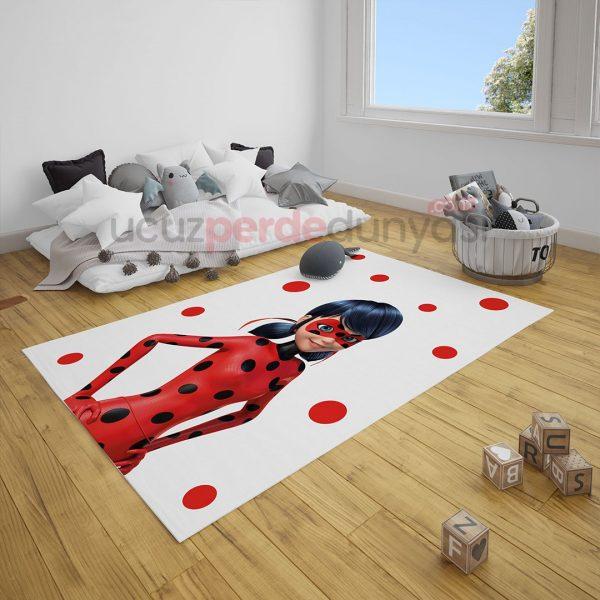 Süper Uğur Böceği Çocuk Odası Halı