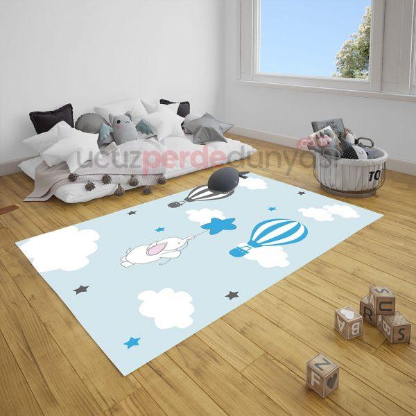 Uçan Fil Bebek Odası Halı