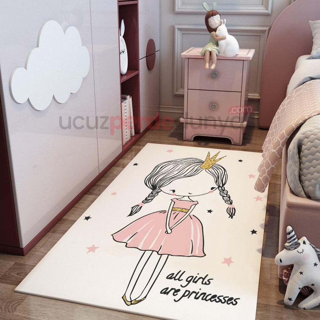 Utangaç Prenses Bebek Odası Halı